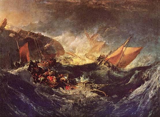 Turner-TheWreckofaTransportShip