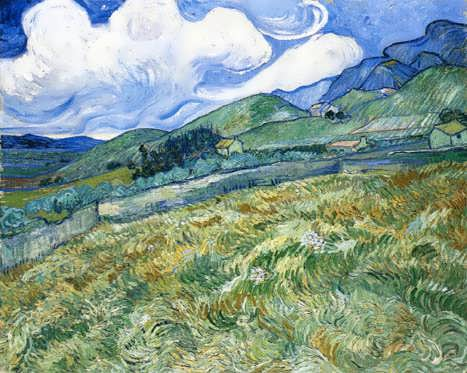 VanGogh-WheatfieldwithMountainsintheBackground