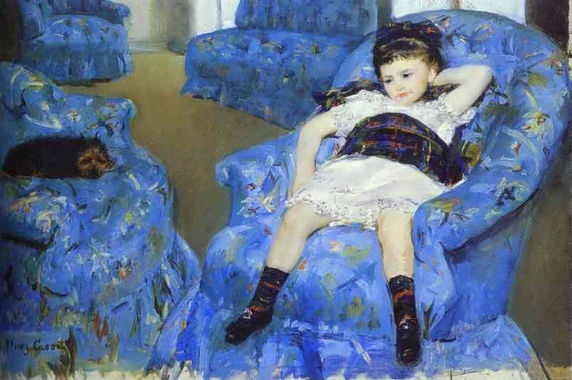 cassatt-LittleGirlinaBlueArmchair