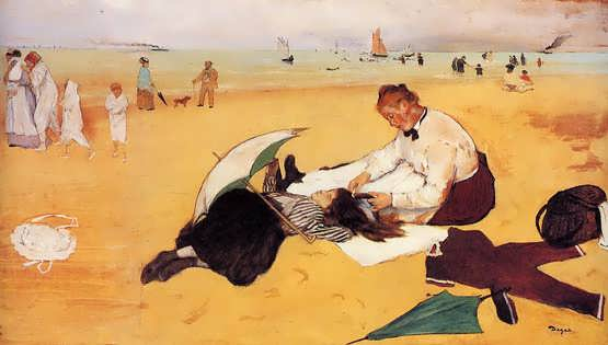 degas-BeachScene