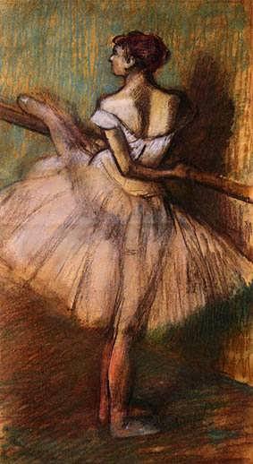 degas-DancerattheBarre