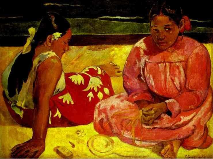 gauguin-tahitianwomenonthebeach