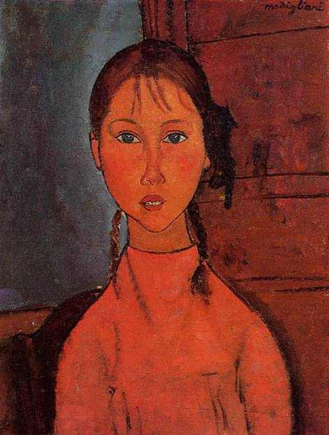 modigliani-GirlwithBraids