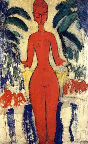 modigliani-StandingNudewithGardenBackground