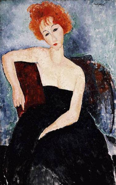 modigliani.YoungRedheadinanEveningDress1