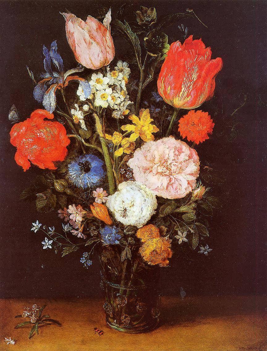 JanBruegeltheElder-FlowersinaGlassVase