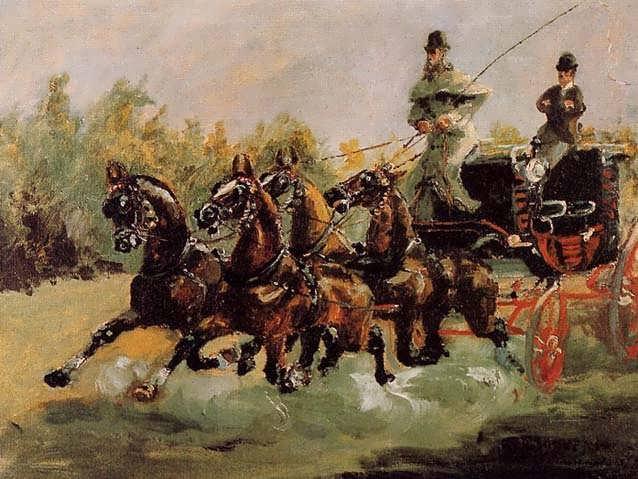 Lautrec-AlphonsedeToulouse-LautrecDrivingHisFour-in-Hand
