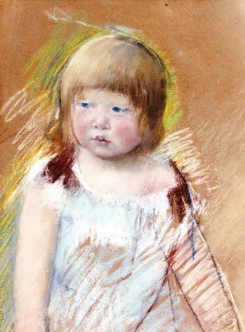 MaryCassatt-ChildwithBangsinaBlueDress