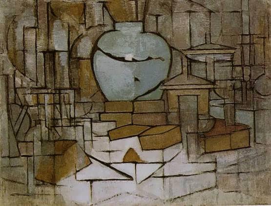 Mondrian-StillLifewithGingerJarII