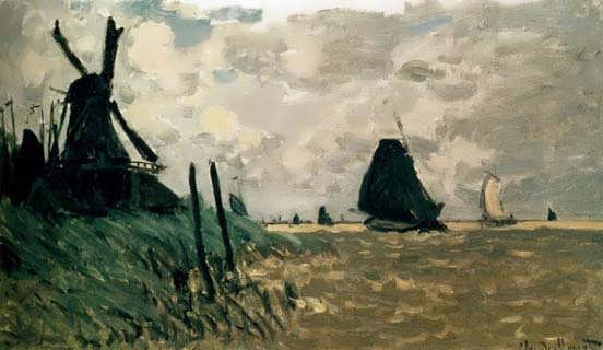 Monet_A_Windmill_Near_Zaandam