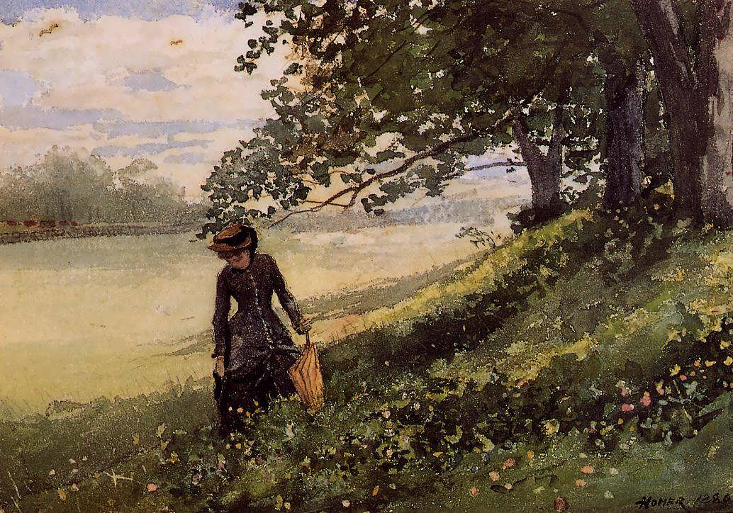 WinslowHomer-YoungWomanwithaParasol1